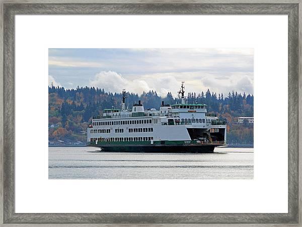 The Ferry Kitsap Framed Print