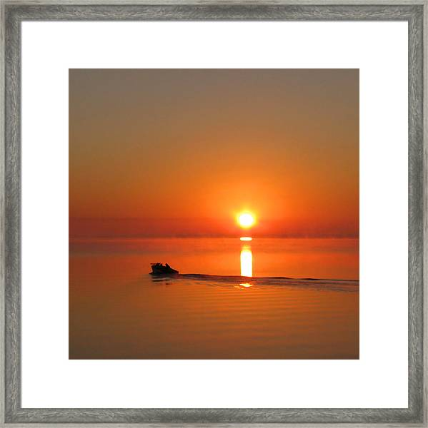 The Fish Are Waiting Framed Print