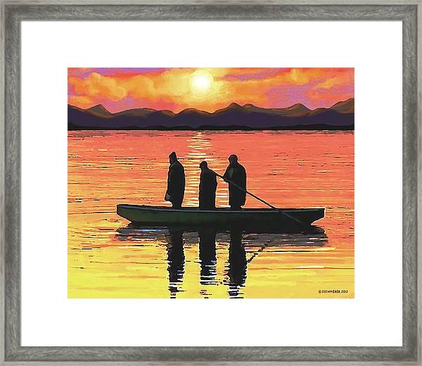 The Fishermen Framed Print