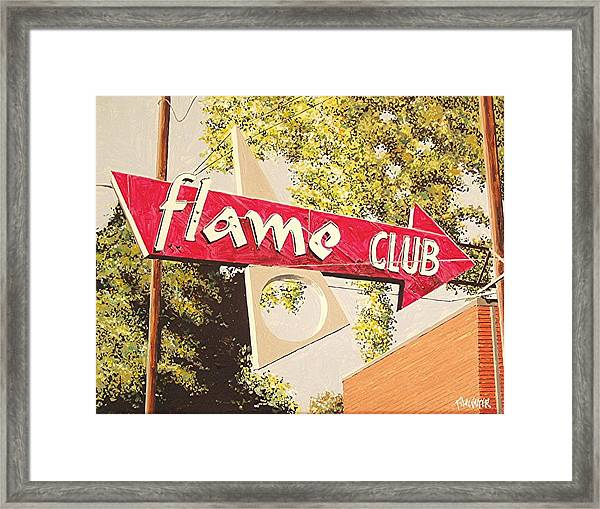 The Flame Club Framed Print by Paul Guyer