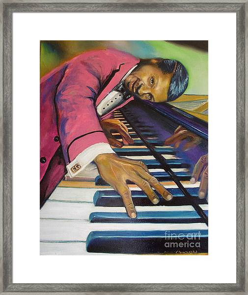 The Flavor Of Erroll Garner Framed Print by Donna Chaasadah