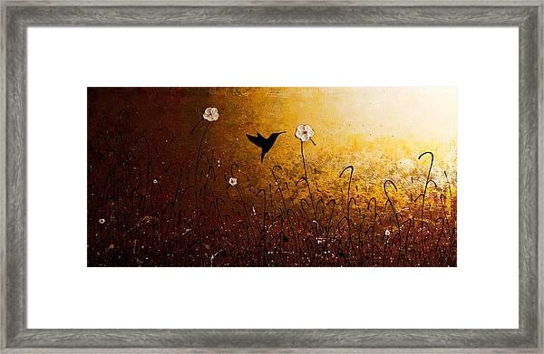 The Flight Of A Hummingbird Framed Print