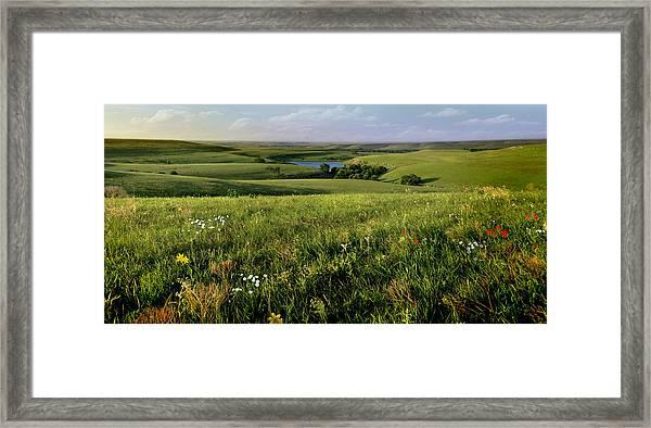 The Kansas Flint Hills From Rosalia Ranch Framed Print