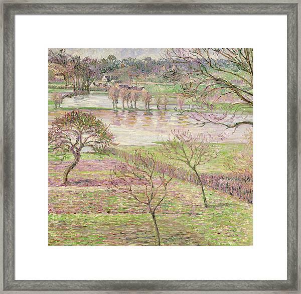The Flood At Eragny Framed Print