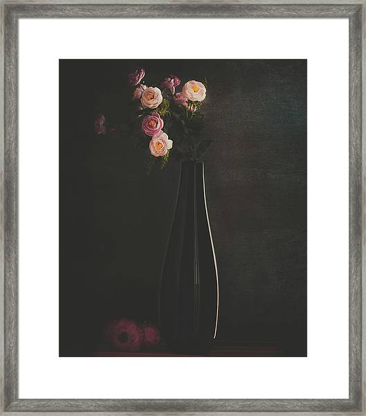 The Flower Framed Print by Farid Kazamil