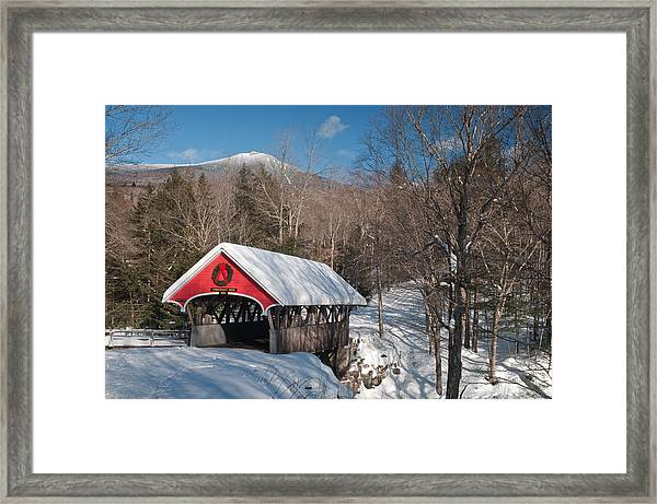 The Flume Bridge In Winter Framed Print