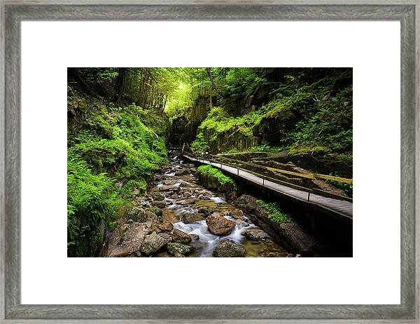 The Flume With Flowing Water Framed Print