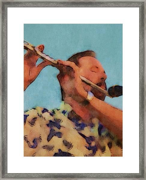 The Flute Player Framed Print