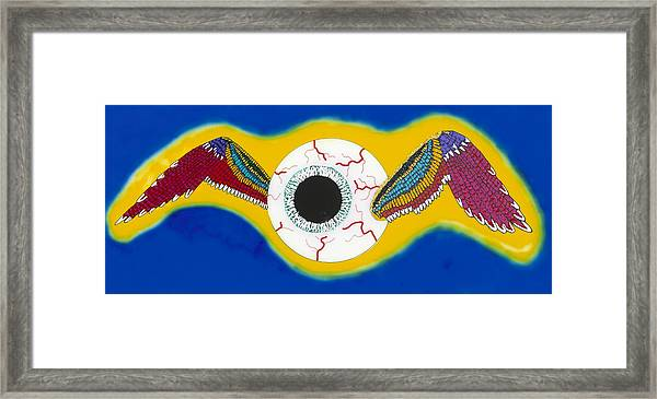 The Flying Eye Framed Print by Patrick OLeary