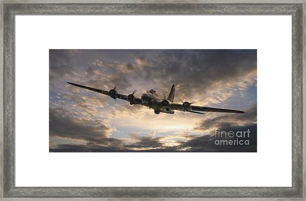The Flying Fortress Framed Print