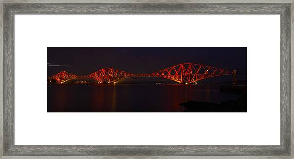 The Forth Bridge By Night Framed Print