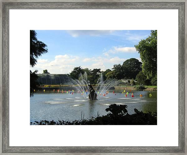 The Fountain At Kew Gardens Framed Print