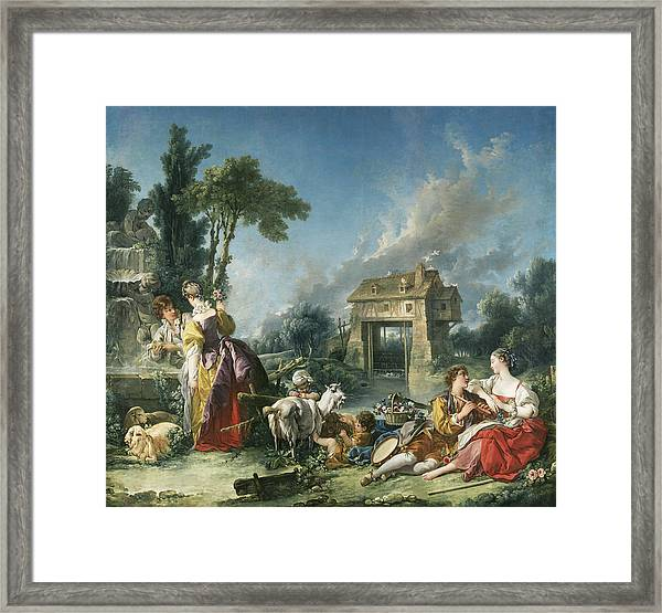 The Fountain Of Love Framed Print