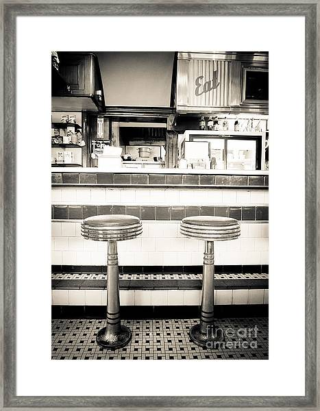 The Four Aces Diner Framed Print