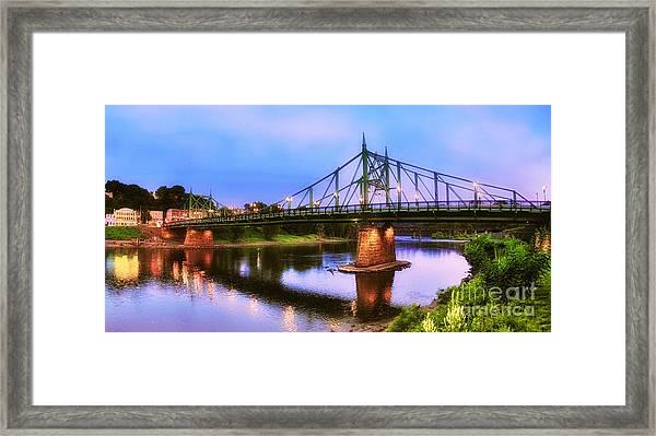 The Free Bridge Framed Print