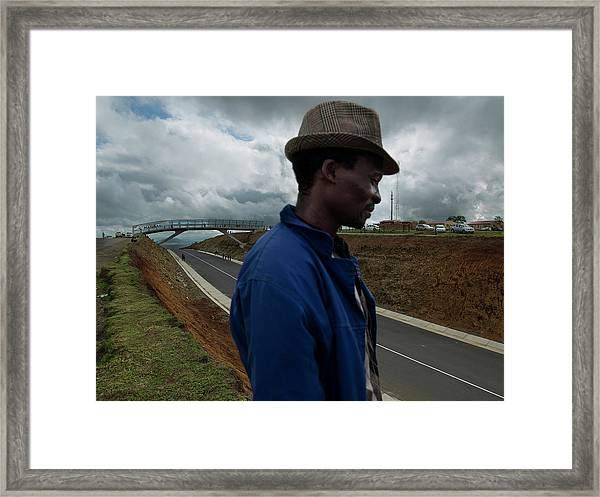 The Funeral Of Former South African Framed Print by Brent Stirton