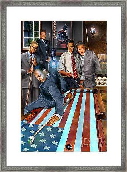 The Game Changers And Table Runners Framed Print