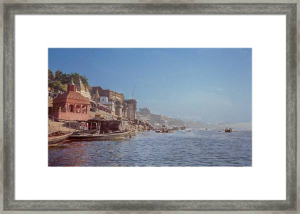 The Ganges River At Varanasi Framed Print