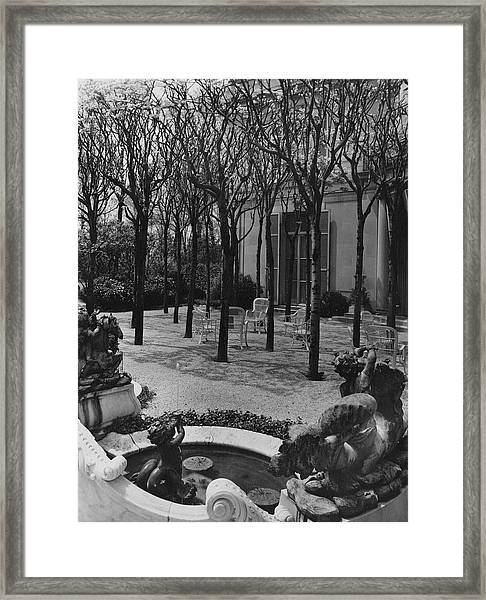 The Garden Of A Home In Meridian Hill Framed Print