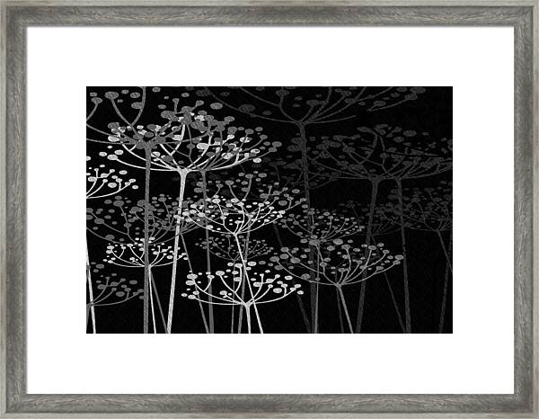 The Garden Of Your Mind Bw Framed Print