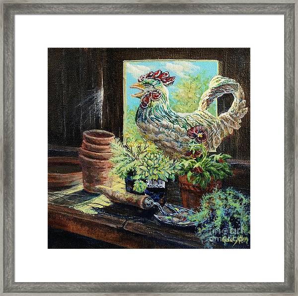 The Garden Shed Framed Print