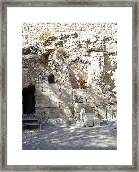 The Garden Tomb  In Jerusalem Framed Print