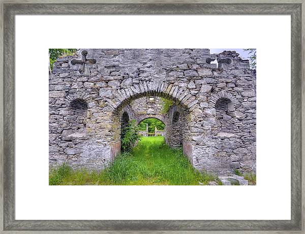 The Gate To The Ruins Framed Print