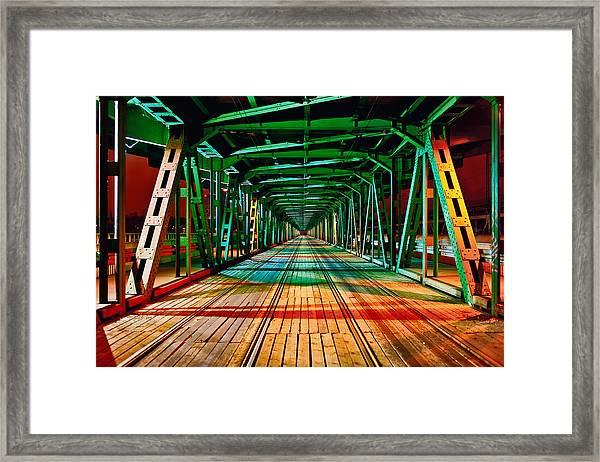 The Gdanski Bridge Framed Print