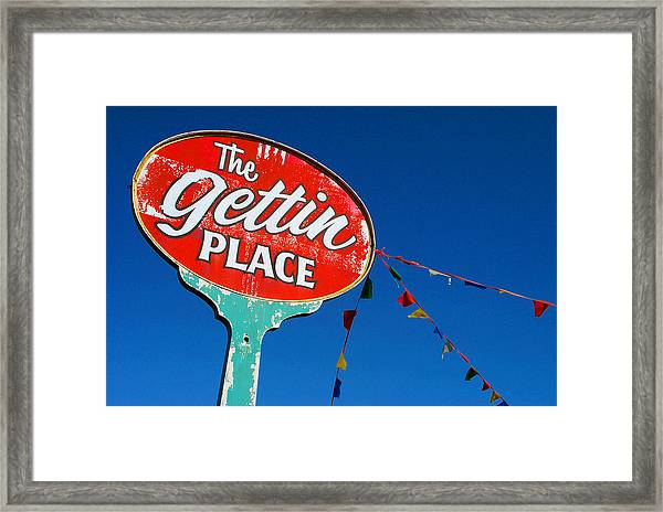 The Gettin Place Framed Print