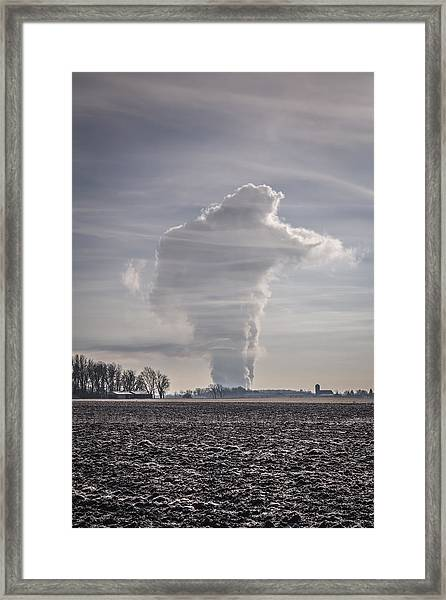The Giant Cloud Framed Print