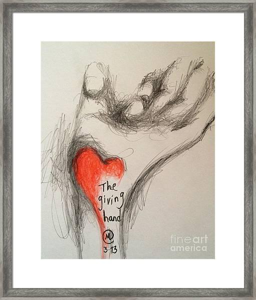The Giving Hand Framed Print
