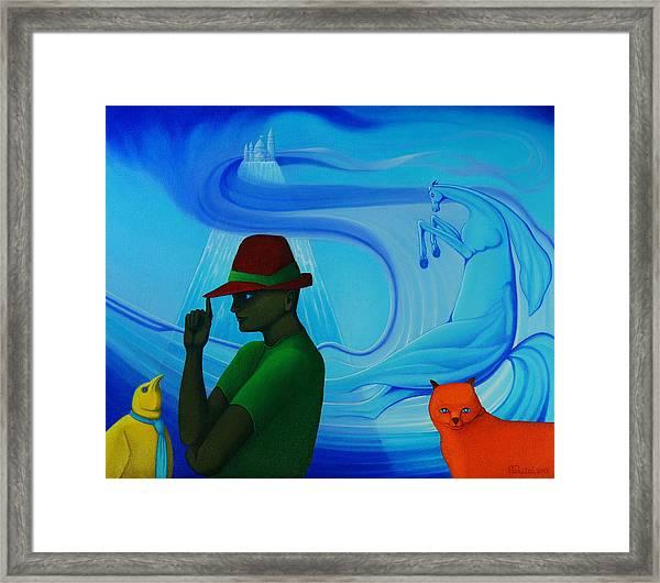 The Glass Mountain. Framed Print