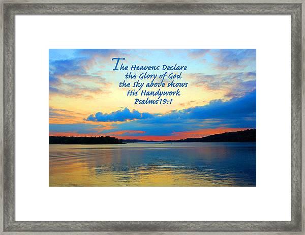 The Glory Of God Framed Print