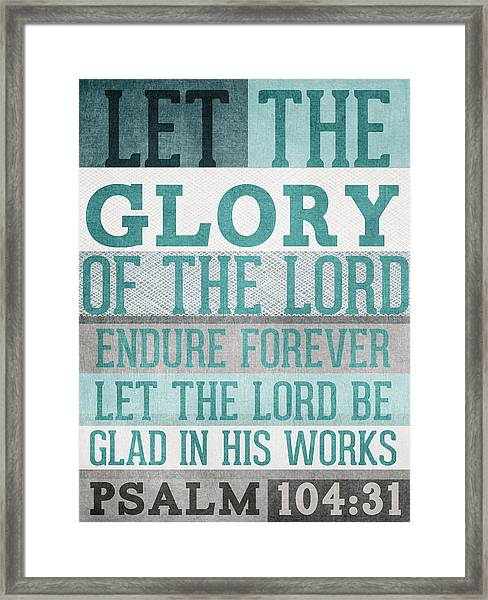 The Glory Of The Lord- Contemporary Christian Art Framed Print
