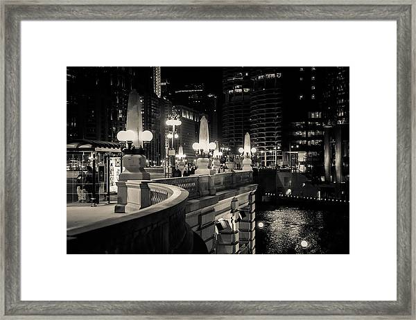 The Glow Over The River Framed Print