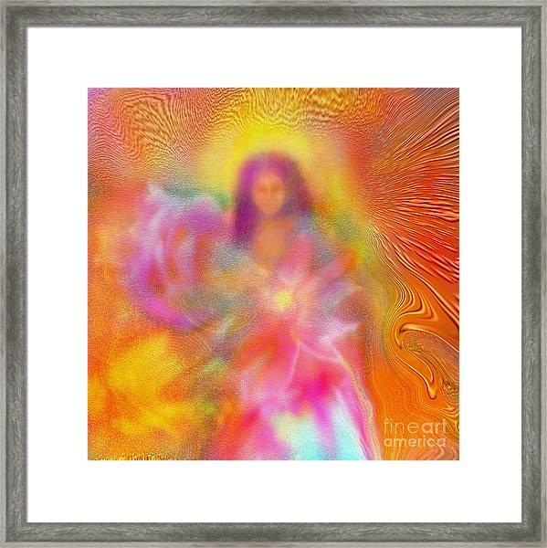 The Golden Deva Framed Print