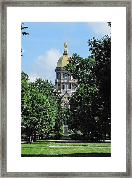The Golden Dome Framed Print