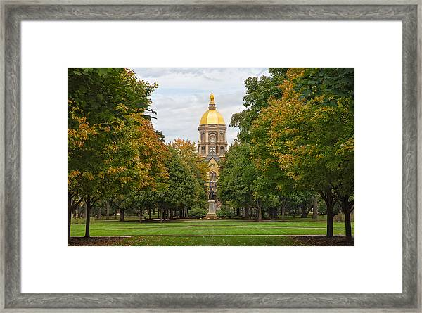The Golden Dome Of Notre Dame Framed Print