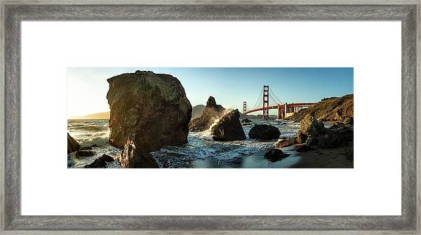 The Golden Gate Bridge Framed Print by Michael Kaupp