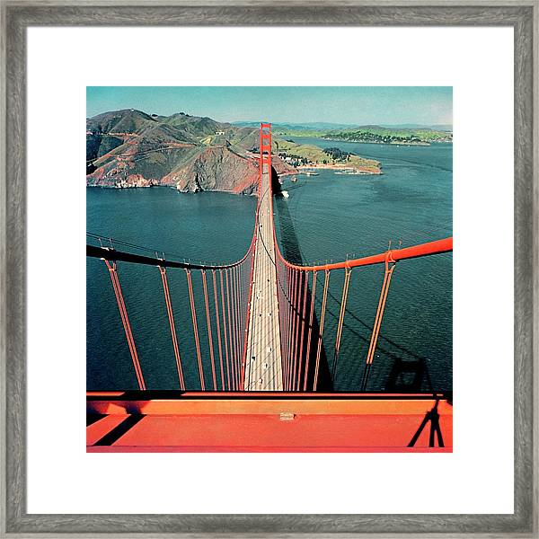 The Golden Gate Bridge Framed Print by Serge Balkin