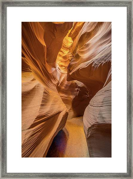 The Golden Passage Way Framed Print by Jeffrey C. Sink
