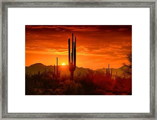 The Golden Southwest Skies  Framed Print