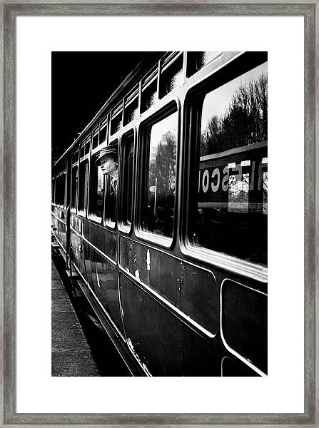 The Goodbye Girl ....leaving Framed Print by Richard Bland