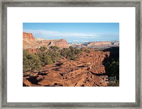 The Goosenecks Capitol Reef National Park Framed Print