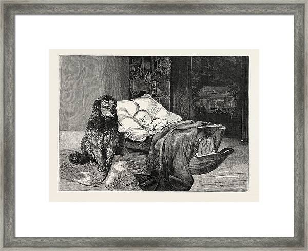 The Gorilla And Chimpanzee At The Crystal Palace, London Framed Print