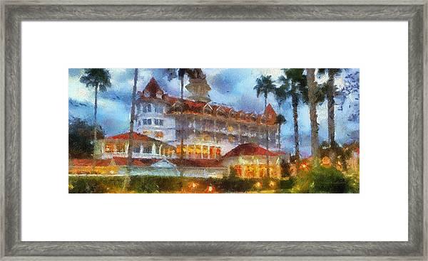 The Grand Floridian Resort Wdw 01 Photo Art Framed Print