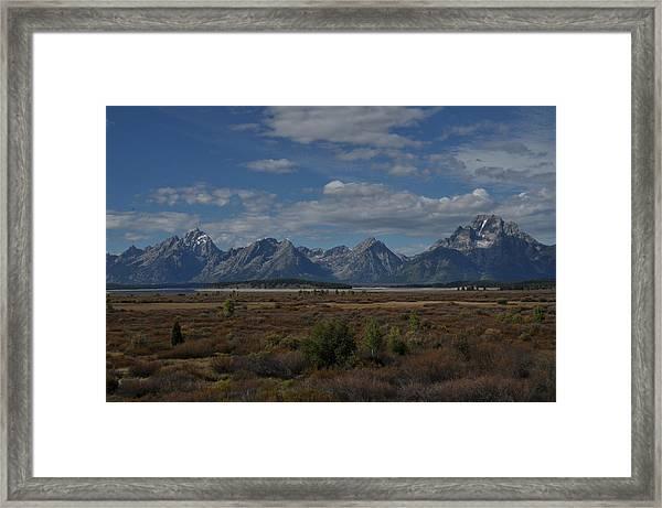 The Grand Tetons Framed Print