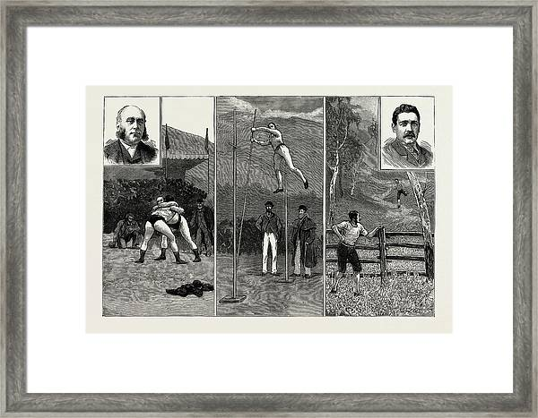 The Grasmere And Lake District Sports, Westmorland Framed Print by Litz Collection