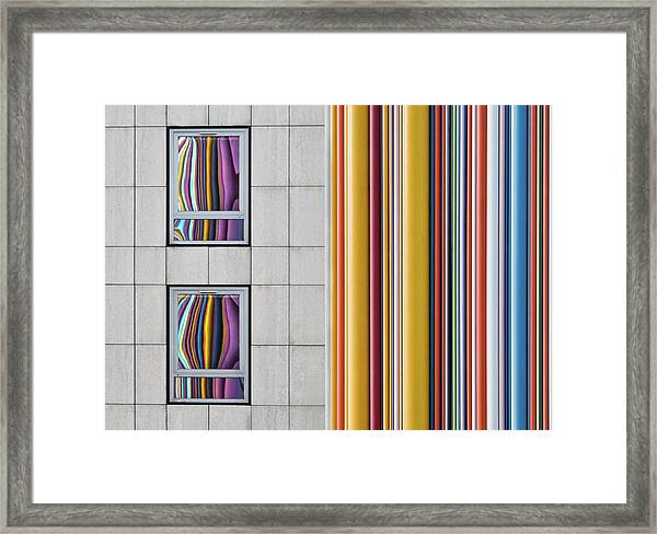 The Gray And The Colors Framed Print by Guillaume Legraverend
