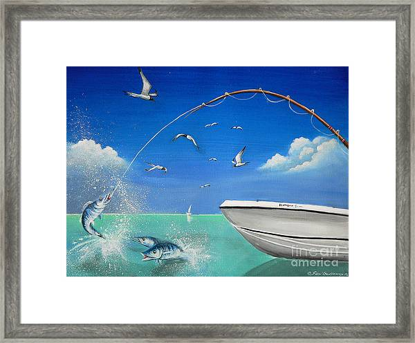 The Great Catch 2 Framed Print